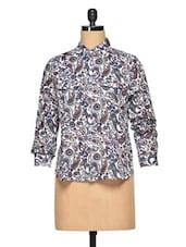 Multicolor Cotton Paisley Shirt - Oxolloxo