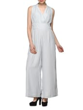 Grey  Polyester Jumpsuit - Oxolloxo