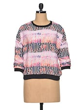 Multicolored Striped Polyester Top - Oxolloxo