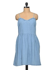 Light Blue Stylish Denim Dress - Oxolloxo