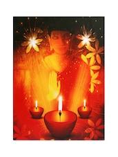 Buddha Printed LED Canvas Wall Art - By