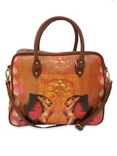 Khajuraho With Butterfly Printed Small Hand Bag - Per Inch