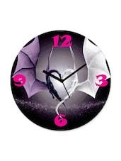 Multi Color  Wooden Clock Flying In Love - Zeeshaan