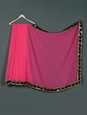 Pink Georgette Designer Party Wear Saree - Aakriti