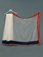 White Net Designer Party Wear Saree - Aakriti