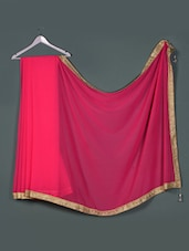 Fushia Georgette Designer Party Wear Saree - Aakriti