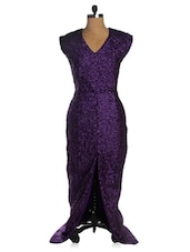 Purple Party Long Flowy Dress - VEA KUPIA