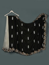 Black ,white Net ,silk Designer Party Wear Saree - Aakriti
