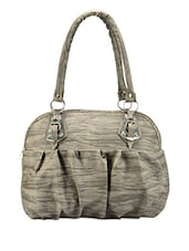 Grey Gather Detailed Handbag - Bags Craze