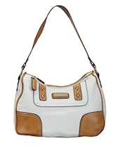 White Leatherette Shoulder Bag - Bags Craze