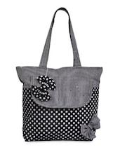Black Casual Tote - Bags Craze