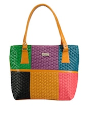 Colour Block Vibrant Handbag - Bags Craze