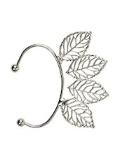 Casual Metal Alloy Four Silver Leaves Ear Cuff For Single Ear - Fayon