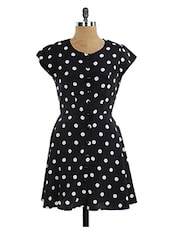 Summertime Love Polka Dot Monochrome Skater Dress - Miss Chase