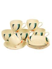 Clay Craft Cups & Saucers Set (12 Pcs) - Clay Craft