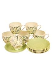 Clay Craft Cups & Saucers Set (12 Pcs) - Clay Craft