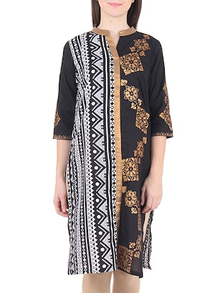 black Cotton kurta