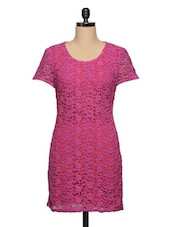 Pink  Lace Dress - Ozel Studio