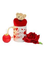 Love U Mug Rose & Chocolates - Gifts By Meeta