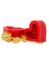 Golden Rose And Heart Candles - Gifts By Meeta