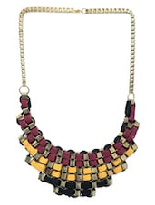 Multicolour Metal Alloy & Cotton Dori Necklace - By
