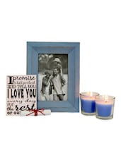 Photo Frame & Candles - Gifts By Meeta