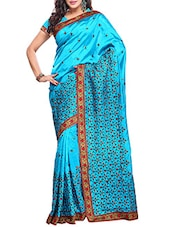 Sky Blue Zoya Silk Saree - By