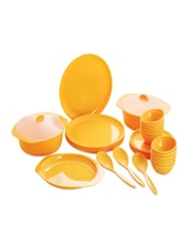 Cello Ware Dinner Set Round Yellow - Elegante'