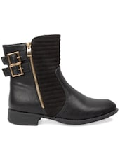 Black Leather Boots - By