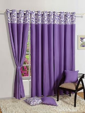 Solid Eyelet Door Curtain - SWAYAM