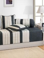Printed Stripes Diwan Set (Set Of 6 Pcs) - SWAYAM
