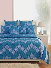 Printed Double Bed Sheet With Two Pillow Covers - SWAYAM