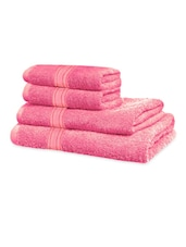 Light Pink Classic Super Soft Family Pack Set Of 4 Towels - Just Linen