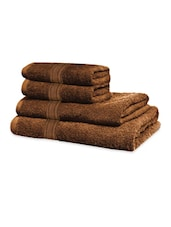Chocolate Brown Classic Super Soft Family Pack Set Of 4 Towels - Just Linen