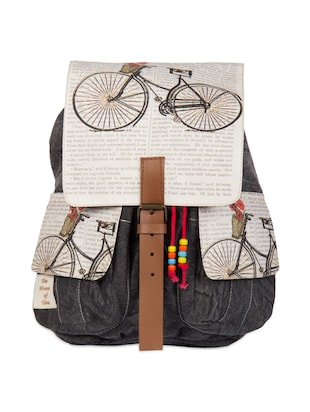 Cycle print backpack