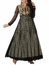 black Art silk suits -  online shopping for Semi-Stitched Suits
