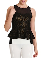 Black Lace Top - By