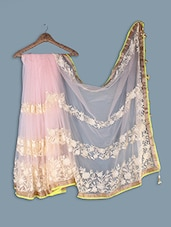 Net Saree With Embroidery - Ethnictrend