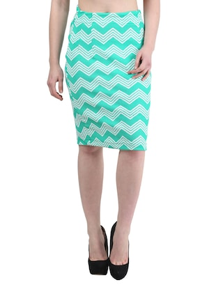 aqua green Polyester skirt