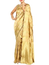 Beige Color Art Silk Saree -  online shopping for Sarees