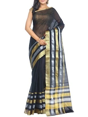 Black Color Art Silk Saree -  online shopping for Sarees