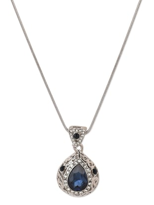 Crystal Droplet Pendant Necklace