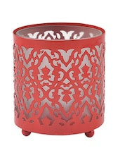 Cut Out Votive Holder- Red - The Yellow Door