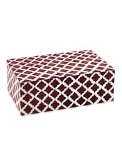 Red Ikat Print Treasure Box Red And White: Small - The Yellow Door
