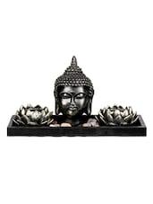 Buddha Sculpture With Lotus T Lights - The Yellow Door