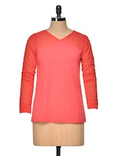 Red Knitted Full Sleeve Top - Besiva