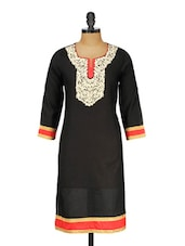 Three Quarter Sleeve Cotton Kurta - Rumara