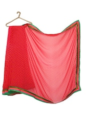 Dark Pink Printed Georgette Saree - Strollay Couture