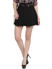 Black Flared Skirt - By