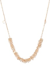 Charming  Golden Metal Alloy Mini Hearts Neckpiece - THE BLING STUDIO